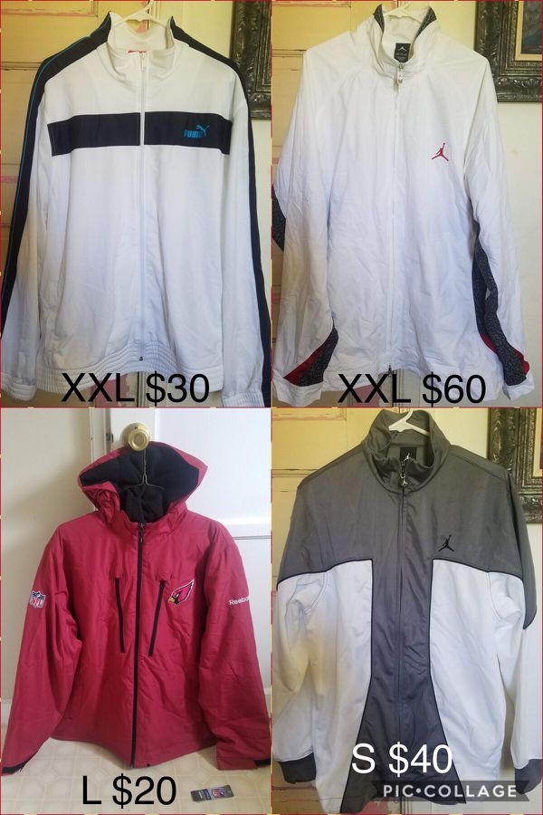 Brand new men's jackets, size and price are on the pictures. All FIRM PRICE. I'll not answer any low offers. Thank you.