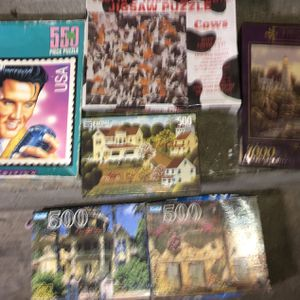 6 vintage jigsaw puzzles from 90's sealed unopened for Sale in Stockton, CA