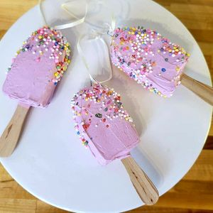 Fake Icecream Pops Ornaments Set Of 6 for Sale in West Palm Beach, FL