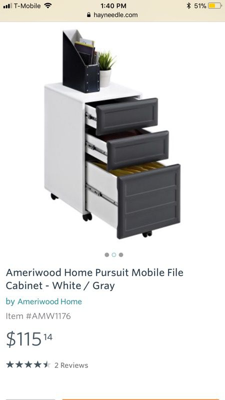 Ameriwood Home Pursuit Mobile File Cabinate - BRAND NEW!!! (Still in the box)