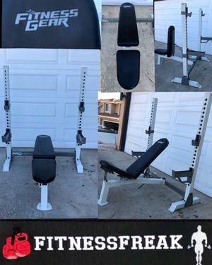 FITNESS GEAR OLYMPIC BENCH/SQUAT RACK for Sale in El Cajon, CA
