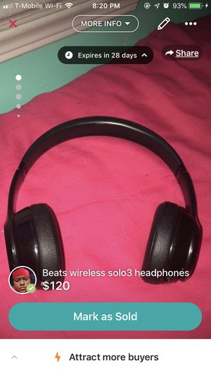 Beats wireless solo3 headphones for Sale in Maple Heights, OH
