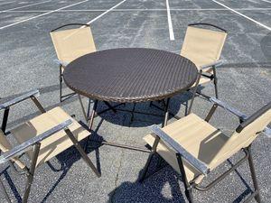 Floor Sample 5-Piece Wicker Outdoor Patio Weatherproof Dining Set for Sale in Dunwoody, GA