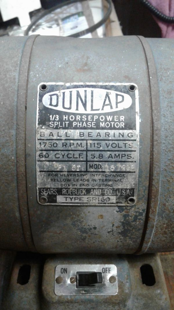 Dunlap 1/3 horsepower split phase motor Sears and Roebucks company for Sale  in Manteca, CA - OfferUp