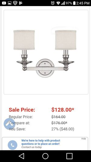 Brand new light fixture for Sale in High Point, NC