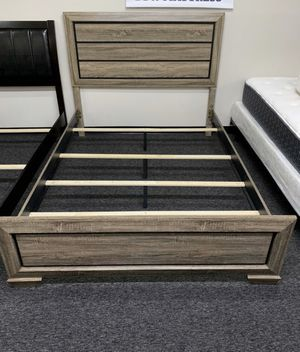 New Distressed Wooden Bed Frame : Queen / King / California King : Mattress Set Sold Separately - Box Spring Required for Sale in Pinole, CA