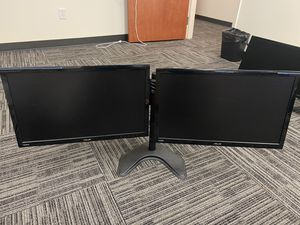 Multiple Dual Monitor Setups with Bionic Arm Stand - $150 for Sale in Delray Beach, FL