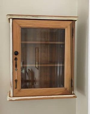 Antique Wall Cabinet with Key for Sale in Ipswich, MA