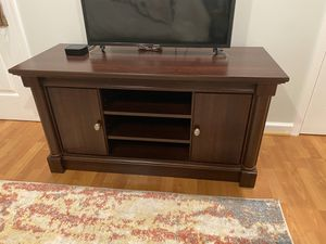 "TV Stand, For TV's up to 50"", Cherry finish for Sale in Laurel, MD"