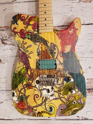 Handpainted Tele Style Electric Guitar w/Dragonfire Pickup for Sale in Stafford Township, NJ
