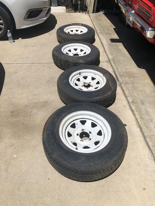 "15"" Travel Trailer wheels 205/75/15"