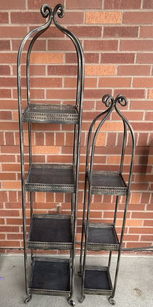 Metal and stone indoor/outdoor decorative shelves for Sale in Denver, CO