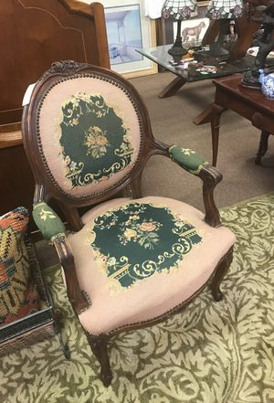 Antique Victorian Needlepoint Chair for Sale in Winter Park, FL