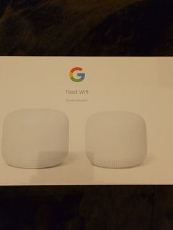 Google Nest Wifi - Home Wi-Fi System - Wi-Fi Extender - Mesh Router for Wireless Internet - 2 Pack for Sale in Brentwood,  CA