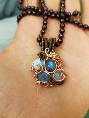 Handmade copper multistone pendant for Sale in Lafayette, CO