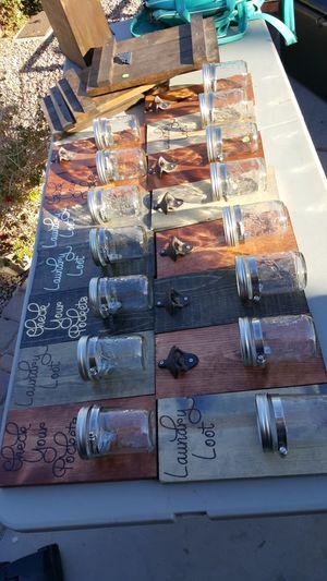Rustic mason jar money jar laundry for Sale in Buckeye, AZ
