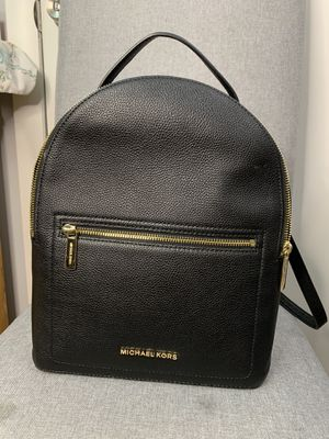 Muchael Kors Black Leather Backpack for Sale in Canton, MA