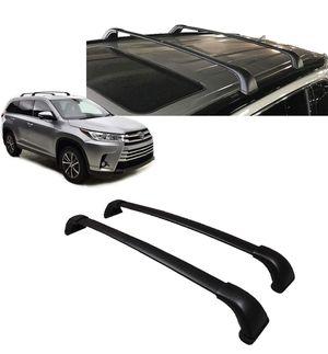 Toyota Genuine Highlander Roof Rack Cross Bar Set PT278-48170. 2 Black Cross Bars. 2014-2019 Highlander XLE, Limited & SE. for Sale in Bakersfield, CA