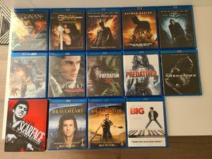 14 Bluray movies -no digital codes included for Sale in Tigard, OR