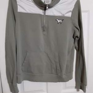 PINK Victoria's secret Hoodie Size Medium (olive Green Color) for Sale in Morrisville, PA