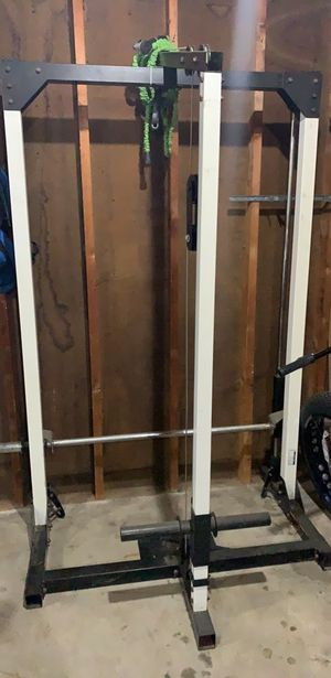 Olympic gym set (no weights ) with bench and pull bar for Sale in Saginaw, MI