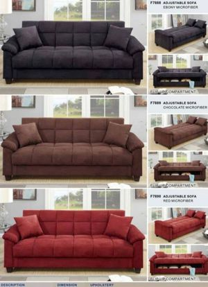 Futon sofa bed with storage for Sale in Long Beach, CA