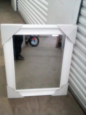 Sale mirror color white hanging 29x36 for Sale in Los Angeles, CA