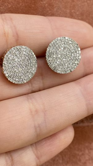 .50ctw Diamond Micro Pave 10k yellow gold screw back earrings for Sale in Chicago, IL