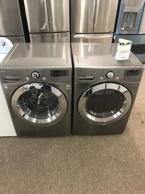 Brand new steam washer and Steam dryer by LG for Sale in Houston, TX