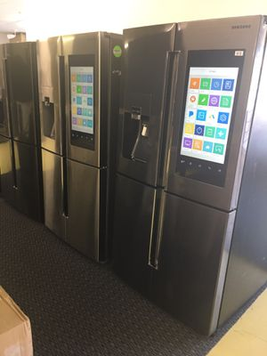 Samsung Family Hub 4 Flex Door Refrigerator Scraches Dent With Warranty No Credit Needed Just $79 The Down payment Cash price $2,800 for Sale in Garland, TX