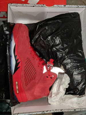 Air Jordan 5 red suede DS size 12 for Sale in Peoria, IL