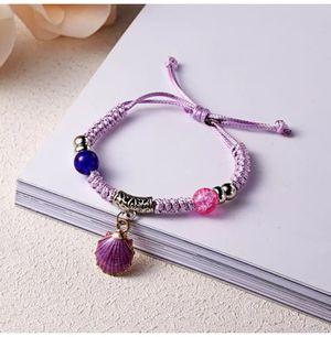 Handmade Purple Shell Charmed Bead Bracelet 💜 for Sale in Atlanta, GA