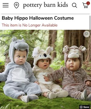 Pottery Barn Kids Baby Hippo Costume for Sale in Chino, CA