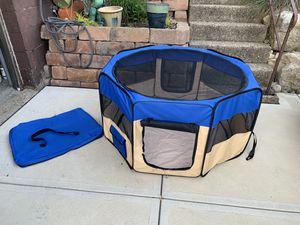 """44"""" round folding dog or cat playpen or use for kids playhouse for Sale in Monroeville, PA"""