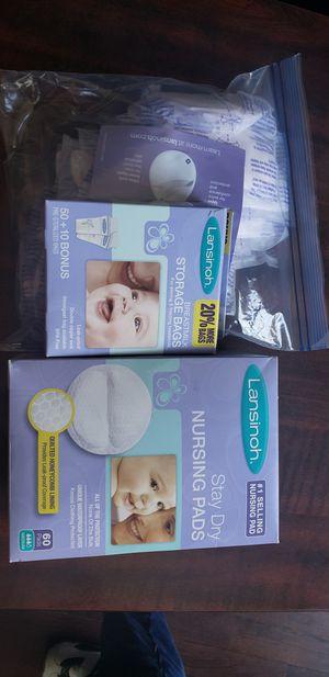 Lansinoh nursing pads and breastmilk storage bags for Sale in Lansing, MI