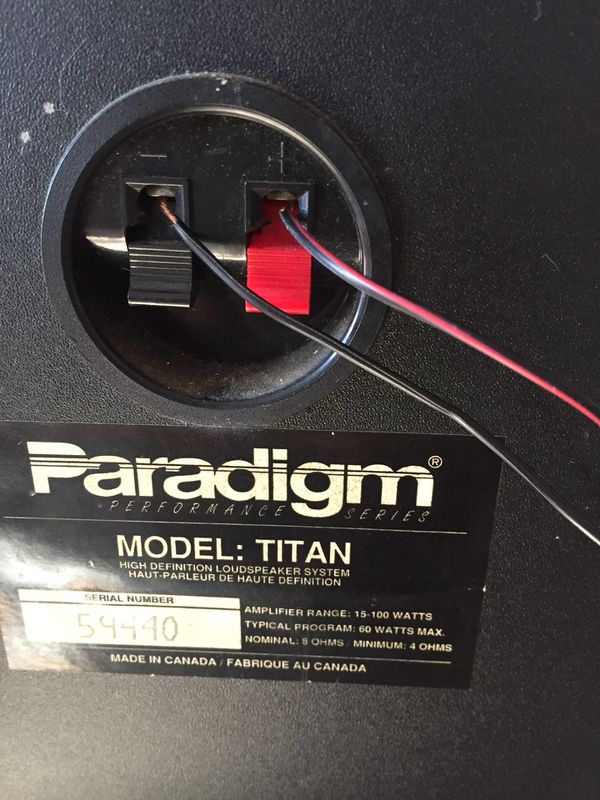 Paradigm Titan Speakers (Pair) for Sale in Pittsburgh, PA - OfferUp