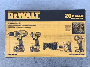Brand new Dewalt drill combo set. $250 FIRM. Sells for $529 in store. Has hammer drill, impact, sawzall, LED flashlight and more for Sale in Upland, CA