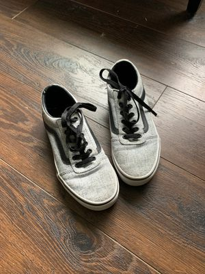 Vans, grey. size 4, kids for Sale in Puyallup, WA