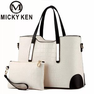 **MICKY KENWOMEN BAG CROCODILE PATTERN COMPOSITE BAG VINTAGE WOMEN MESSENGER BAGS SHOULDER HANDBAG PURSE WALLET LEATHER HANDBAGS** for Sale in Brooklyn, NY