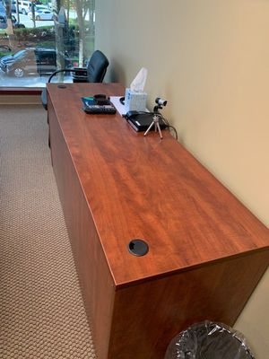 Conference room table & credenza for Sale in VLG WELLINGTN, FL