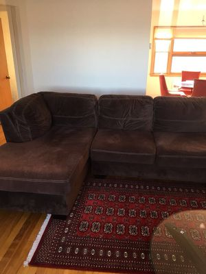 Brown sectional couch for Sale in Boston, MA