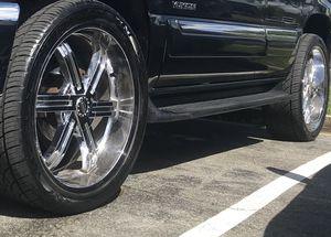 Set of 24 inch 6lugs chrome roxx rims OBO for Sale in UPR MARLBORO, MD