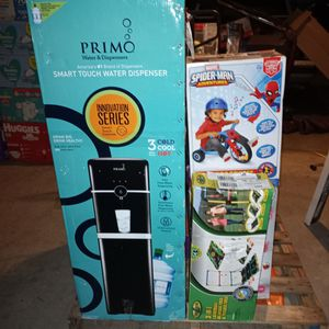 Merchandise Pallets Drinking Water Cooler Big Bounce House Small Bounce House Toys Air Mattresses Mini Step Exercise Machine And Steaming Gun For Clot for Sale in Bakersfield, CA