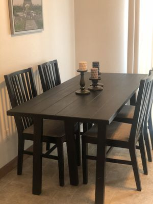 Ikea/ dining table/ 4 chairs for Sale in Alton, IL