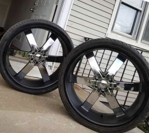 """26"""" rims and tires set 4. for Sale in Spotswood, NJ"""