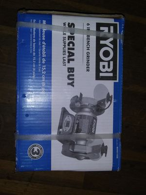 """Brand New Unopened RYOBI 6"""" Bench Grinder BGH6110SB for Sale in Coldwater, MS"""