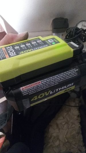 Ryobi 40v battery and charger for Sale in Bellevue, WA