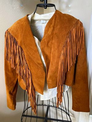 Leather Fringed Leather Jacket (size medium) REDUCED for Sale in Spring, TX