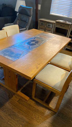 Teak table & 5 Chairs- Free for Sale in Hemet, CA