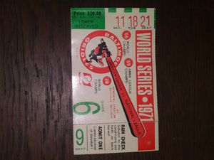 1971 world series game six ticket for Sale in Massillon, OH